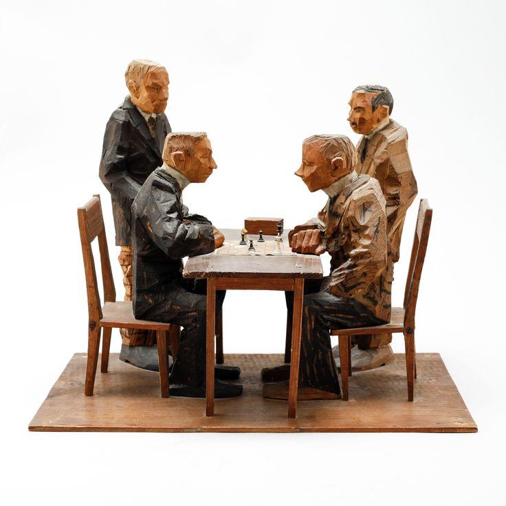 Axel Petersson Döderhultarn - Chess players