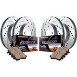Cheap Power Stop K2554 Front/Rear Ceramic Brake Pad and Cross Drilled/Slotted…