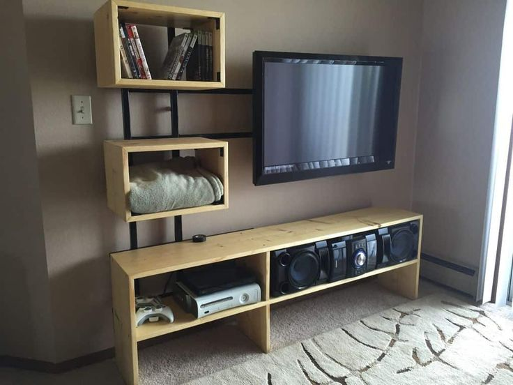 33 easy diy tv stand ideas in 2020 in 2020 diy tv stand