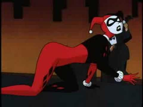 """Harley Quinn singing """"Say We're Sweethearts Again"""".  Also, Batman hitting his head on a pool table =P"""