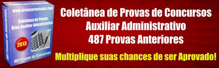 Provas auxiliar administrativo