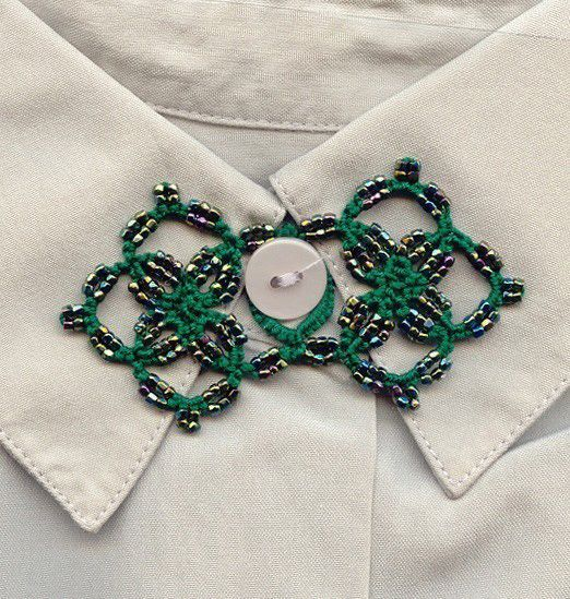 Beanile: Top Button Ornament - Free pattern (and others)