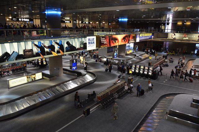 baggage claim area at McCarran International Airport in Las Vegas