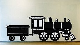 vinyl train for boys room and other fun accessories for train decor