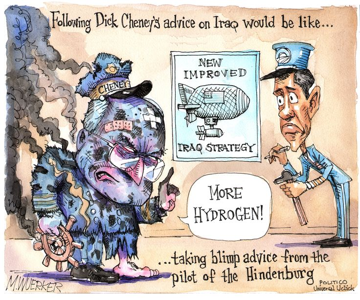 Following Dick Cheney's advice on Iraq would be like ...