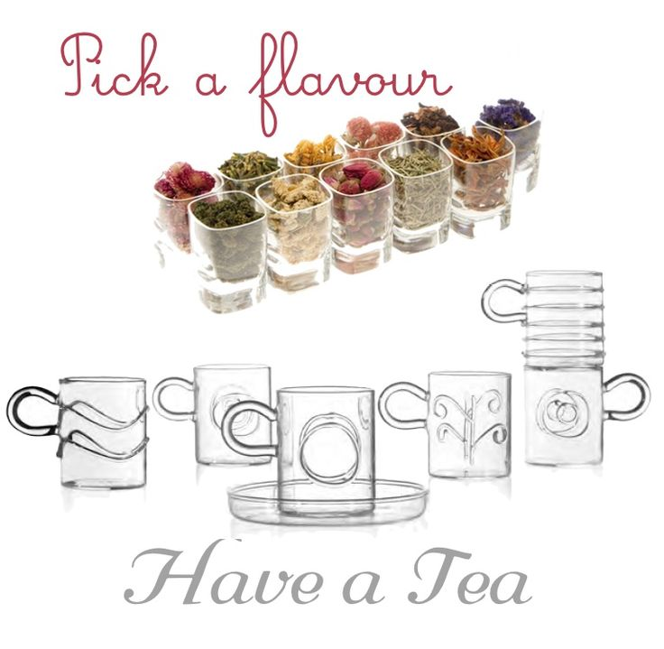 Set of 6 different cups in #crystal #glass by ICHENDORF http://bit.ly/15q4NSK #kitchen #drink #design #home #break