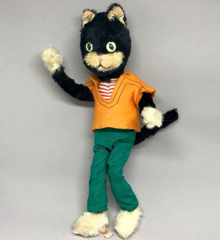 Schuco #TomCat Bendy Doll Mohair Plush #BigoBello 28cm 11in Seam Tag 1960s Vtg #Schuco AllOccasion