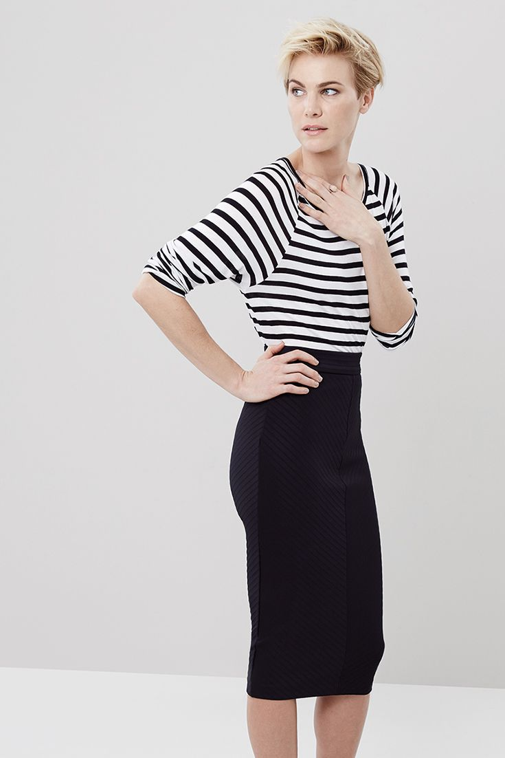 Effortlessly chic in stripes. #miladys #stripes #stripetop