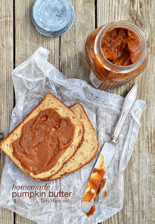 Delicious and easy homemade pumpkin butter recipe at TidyMom.net
