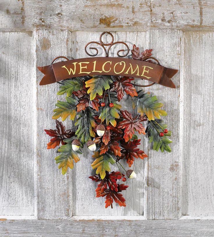 Welcome Guests With Fall Door Decorations: Best 25+ Door Swag Ideas On Pinterest
