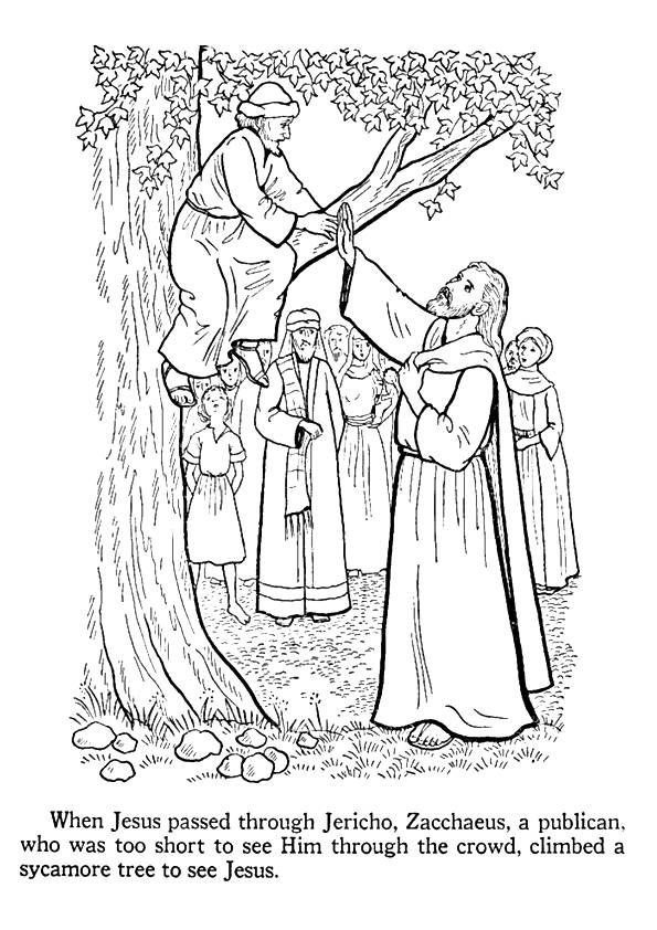 Zacchaeus Coloring Page 0002 Q2 Coloring Page In Zacchaeus Coloringpages Org Bible Coloring Pages Sunday School Coloring Pages Bible Coloring