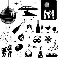 stock-illustration-7407786-new-year-party-black-and-white-vector-icon-set.jpg (190×188)