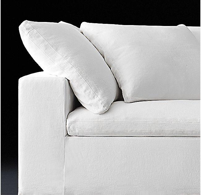 Cloud Track Arm Modular Sofa Chaise Sectional Modular Sofa White Sofa Decor Boho Style Furniture