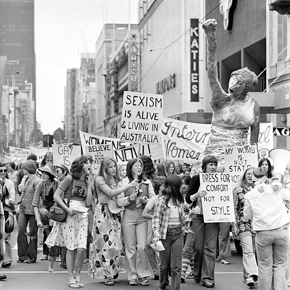 International Women's Day march in 1975