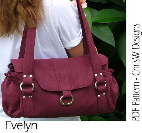 The Evelyn Handbag is not only practical but is stylish too. The bag features two zippered pockets to keep your valuables secure, two elasticized exterior
