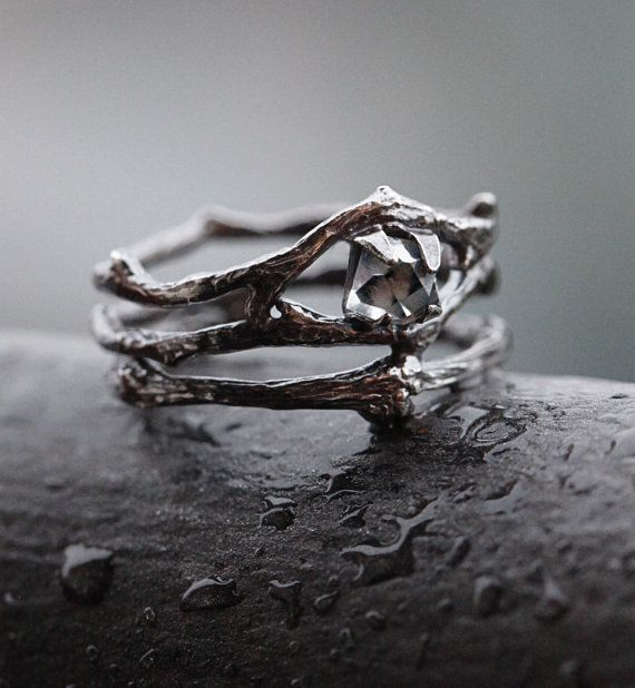 Hey, I found this really awesome Etsy listing at https://www.etsy.com/listing/268206991/twig-ring-with-herkimer-diamond-sterling