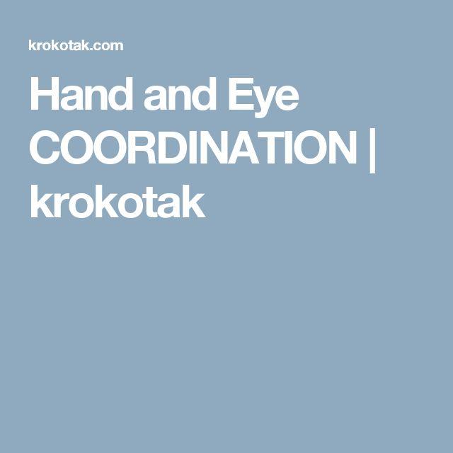 Hand and Eye COORDINATION | krokotak
