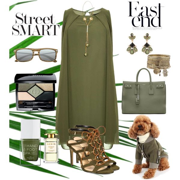 Khaki Style by chauert on Polyvore featuring мода, Dorothy Perkins, Daya, Yves Saint Laurent, Earth, Accessorize, Christian Dior, Estée Lauder and The Hand & Foot Spa