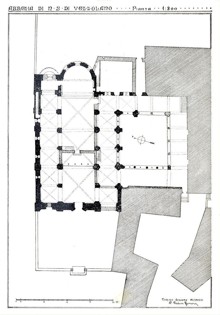 Planimetria Abbazia di Vezzolano