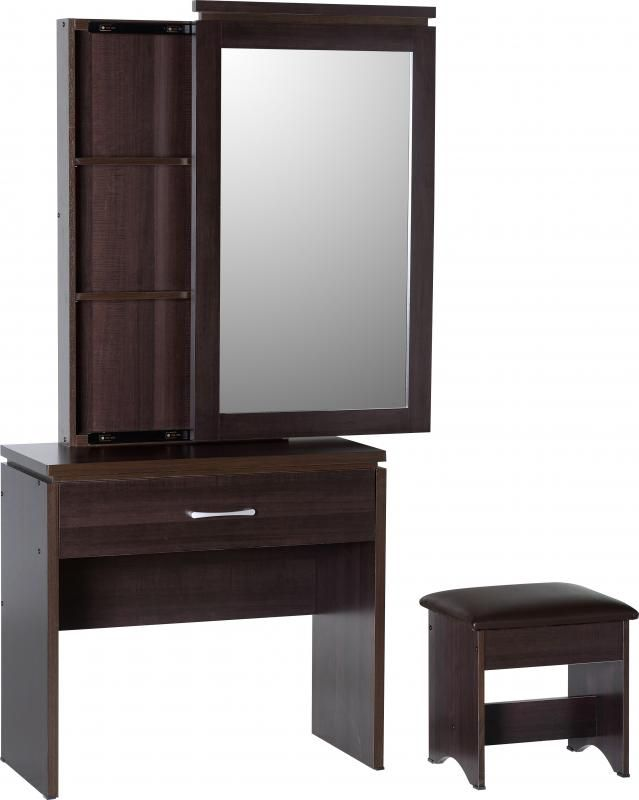 Charles 1 Drawer Dressing Table Set in Walnut Effect #DressingTablesets #DressingTables #Dressing