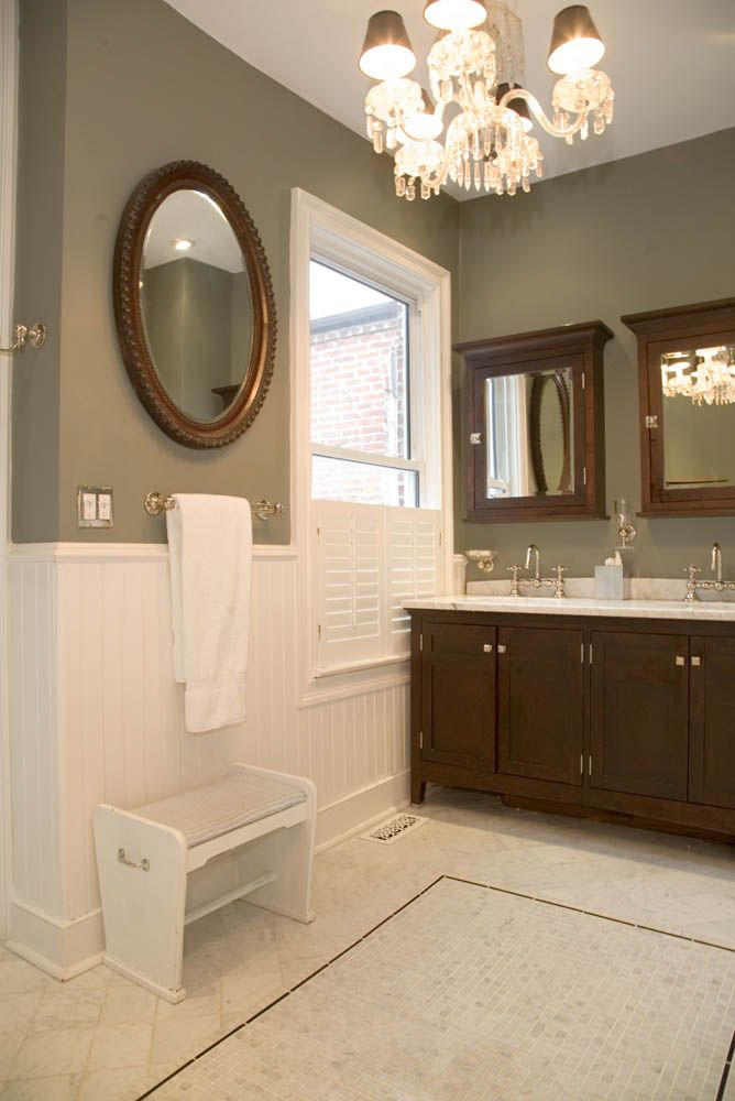 Master Bath Renovation In 1910 Dc Row House Newport Brass