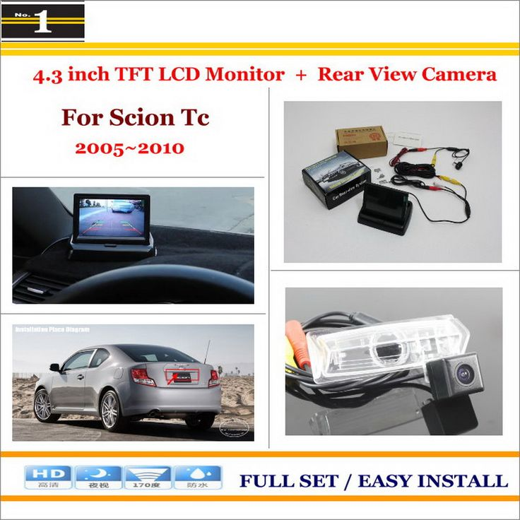 """4.3"""" TFT LCD Monitor + Car Rearview Back Up Camera = 2 in 1 Car Parking System - For Scion Tc ANT10 AGT20 / Toyota Zelas"""