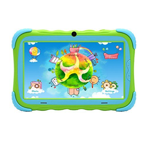 iRulu Y1 Kids Dual Core Google Android Tablet PC (High Quality SAFE feature for kids), Parent Control, Food Grade Silicone (bite worry free), Shockproof, Durable, 8GB Storage, Dual Cameras, Give Children the Best gift in this Christmas!! (Green with Blue corner) iRulu http://www.amazon.com/dp/B00NNL0EW2/ref=cm_sw_r_pi_dp_fRDuub110DRJJ