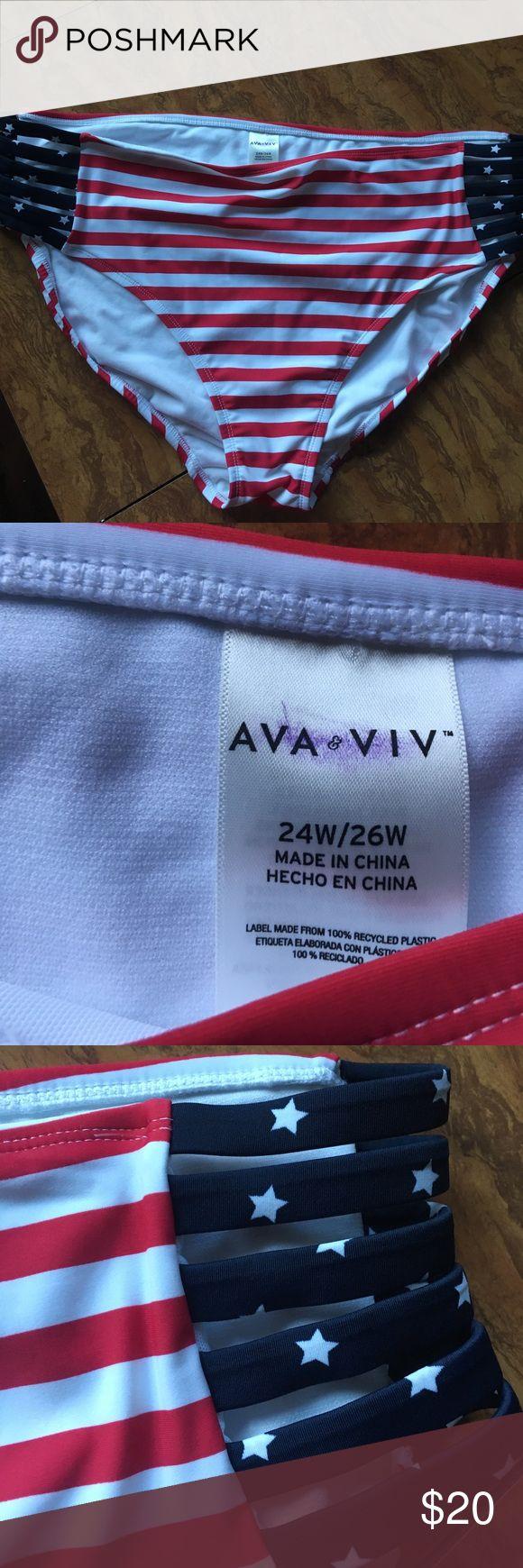 Ava + viv plus size bikini bottom 24-26 Gorgeous bottom bikini . Great condition. Ava & Viv Swim Bikinis