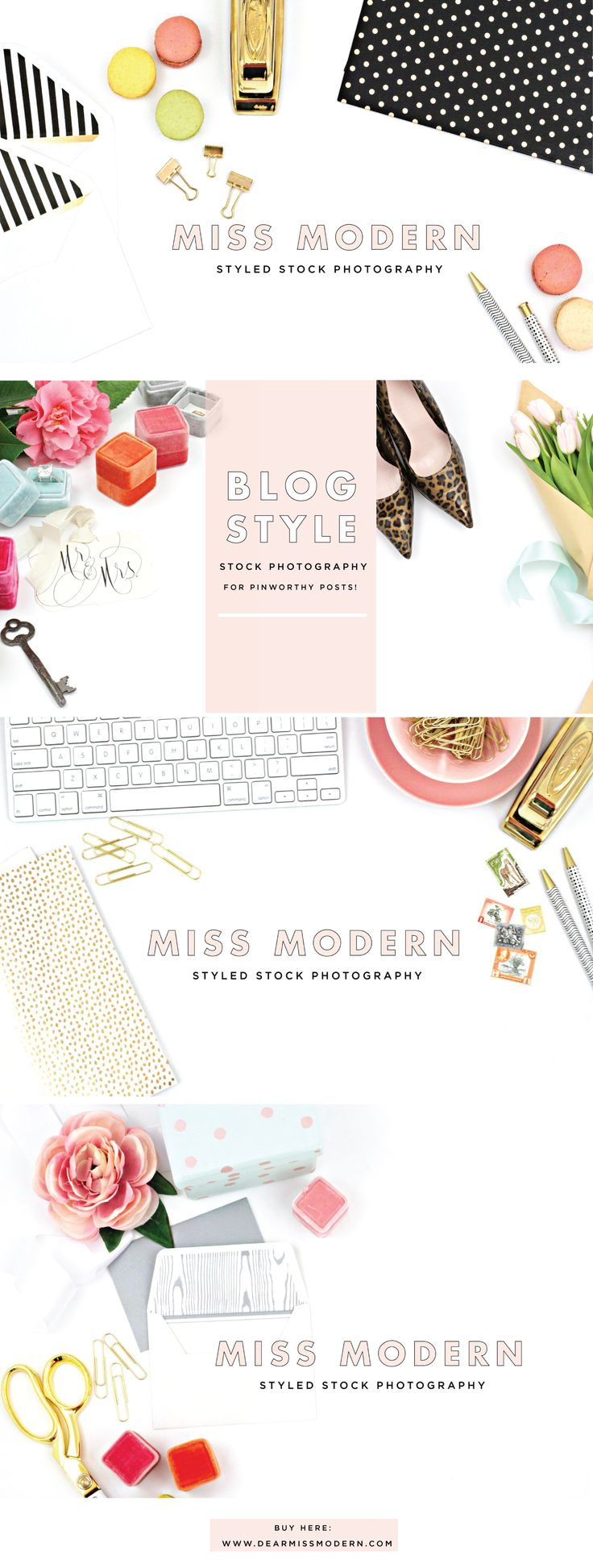 New Styled Stock Photography in the Miss Modern Shop. For Bloggers, wedding planners, designers, shop owners & businesses. xo