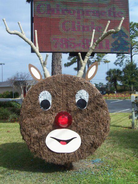 Christmas Rudolph Hay Bale Bauman Chiropractic, Panama City FL www.baumanchiropractic.net