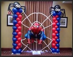 spiderman balloon arch decorations party