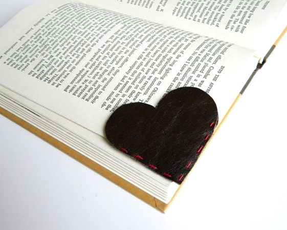 REcycle a leather scrap of fabric into a Bookmark...Even using pleather fabric from an unused purse or bag can be used!:-)