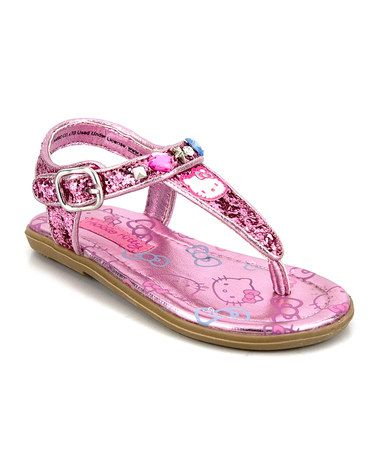 Love this Pink Hello Kitty Shimmer Sandal on #zulily! #zulilyfinds http://www.zulily.com/invite/sruss4420