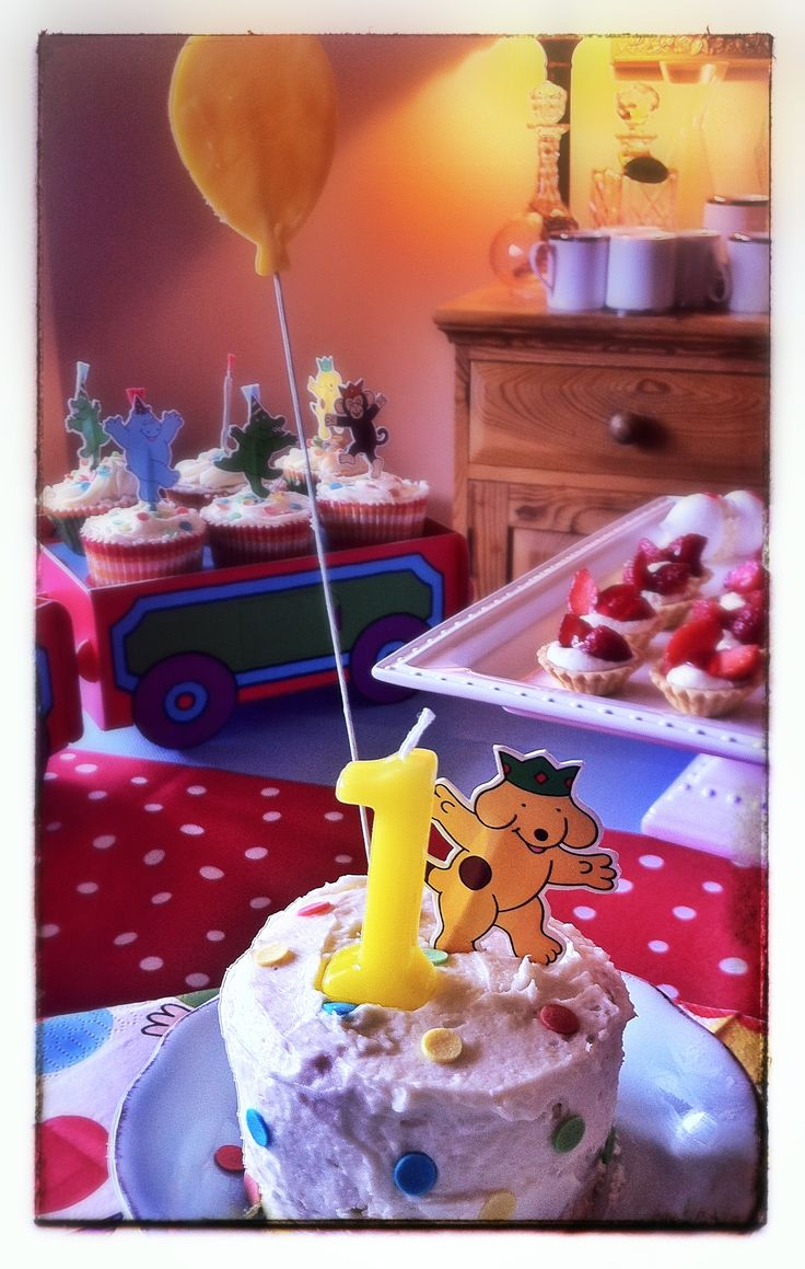 Spot the dog first birthday cake! A little one for a cake smash!
