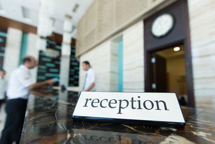 Hotel reception amsterdam