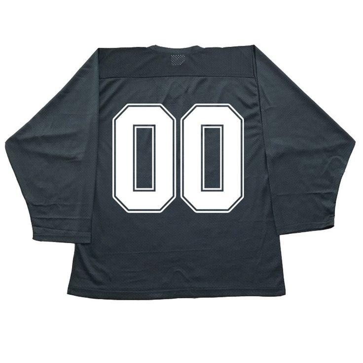 COLDINDOOR 100% polyester noir hockey sur glace hockey jersey formation avec un certain nombre