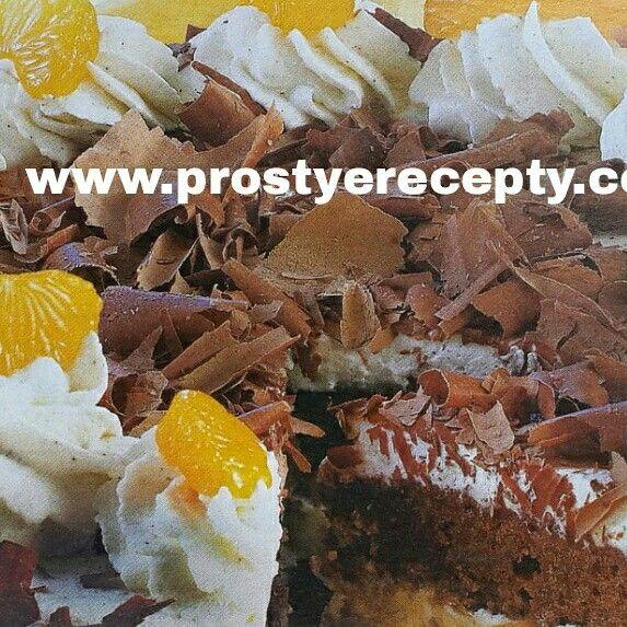 """ТОРТ """" МАНДАРИНКА """"  на 16 порций : 2бисквитных шоколадных коржа, 500 г консервированных мандаринов, 2 ст.л.сахара, 100 мл ликера апельсинового, 1 пакетик ванильного сахара, 2 пакетика загустителя сливок, 500 мл сливок.  НА САЙТЕ ЕЩЕ БОЛЬШЕ РЕЦЕПТОВ. http:// www.prostyerecepty.com  #рецепты #кулинария #торты #вкуснаяеда #вкусныерецепты #рецептытортов #простыерецепты #вкусныеторты #торты"""