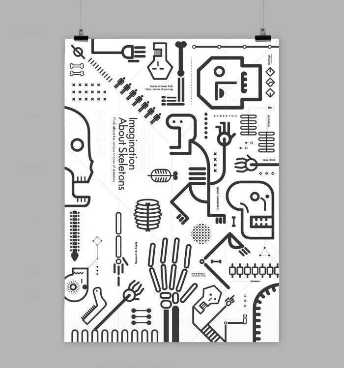 Skull Project - 그래픽디자인, 편집디자인, 캐릭터디자인