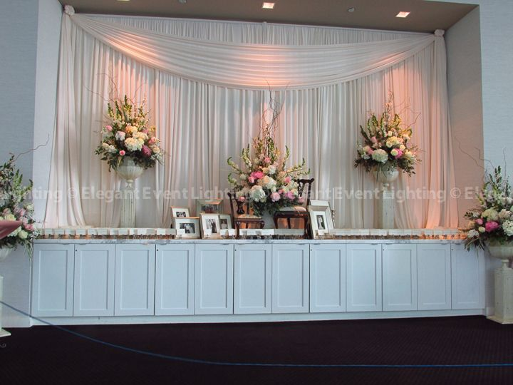 The Elegant Event Lighting Team draped the pre-function lobby at Hotel Arista in Naperville IL with soft ivory fabric. This décor element beautifully ... & 31 best Hotel Arista Weddings | Elegant Event Lighting images on ... azcodes.com