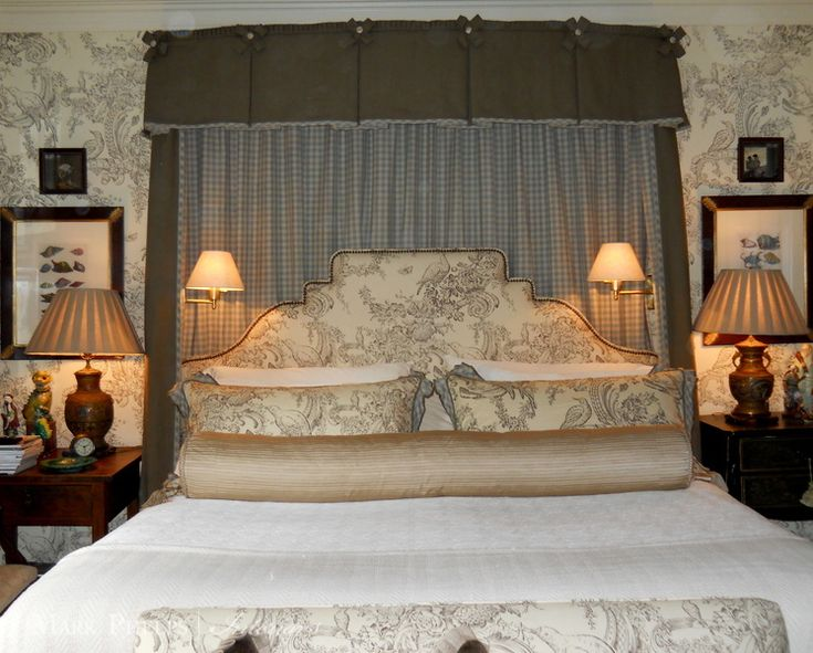 Mark Phelps Interiors Master Bedroom Bed Hanging Brunschwig Fils MarkPhelpsInteriors