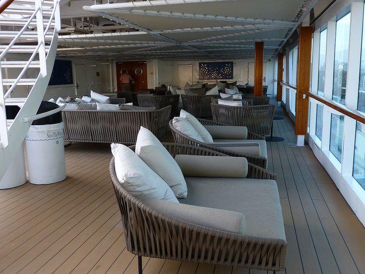 Great new lounging furniture on pool deck Azamara Journey