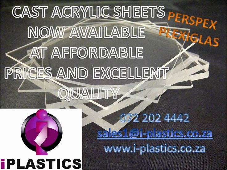 100% Cast acrylic Sheets at affordable prices and excellent quality!