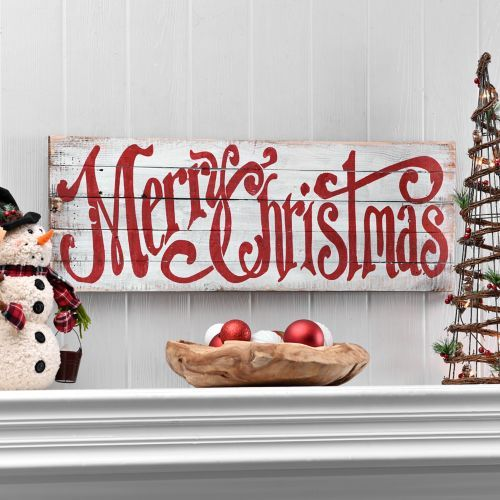 Merry Christmas Word Wood Plaque | Kirklands