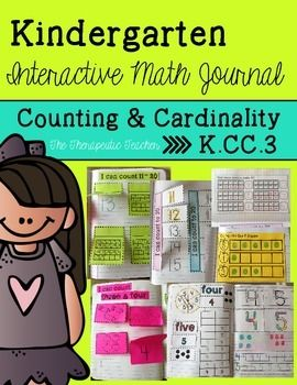 FREE! Kindergarten Interactive Math Journal {K.CC.3}