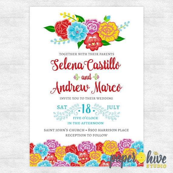 mexican wedding invitations. mexican wedding invitations / fiesta invites s