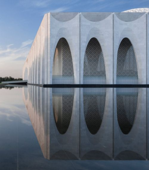 dezeen: Arched walkway wraps Muslim centre near Beijing by He...