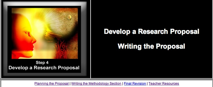 Exceptionally detailed, linked and relevant resource on developing - how to develop a research proposal