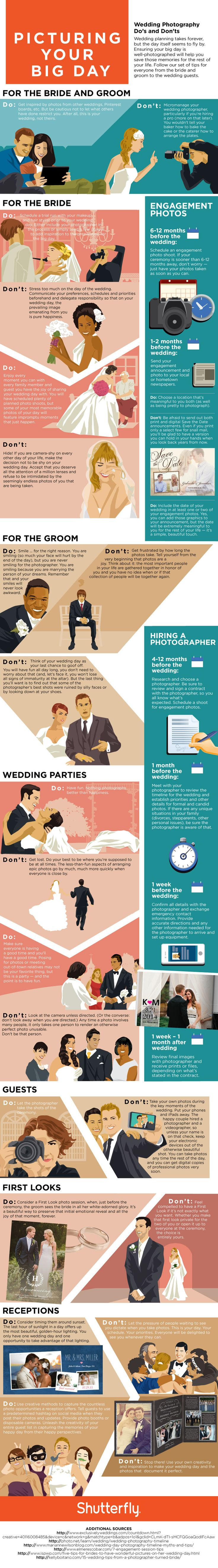 Wedding Photography Do's and Don'ts #infographic #Wedding #Photography