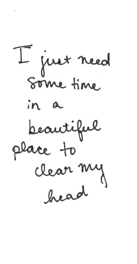 i just need some time...