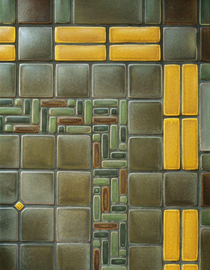 Detail Of Sunroom Floor By Motawi Tileworks Craftsman